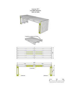 möbel aus europaletten Skizze für Sitzbank