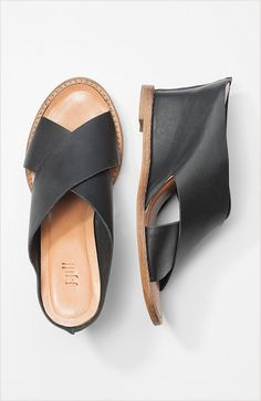 cross-strap leather wedges at J.Jill $129