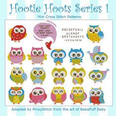 Hootie Hoots Series I Mini Collection Cross Stitch от PinoyStitch