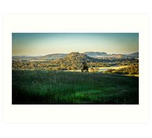 A View to Hanging Rock from Mount Macedon Art Print