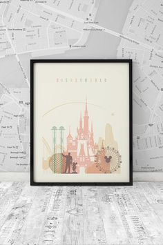 Disney World Printable Wall Art. Decorate your Disney house Disney World Printable Wall Art. Decorate your Disney house