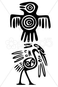 Stock Illustration of mayan and inca tattoo symbols
