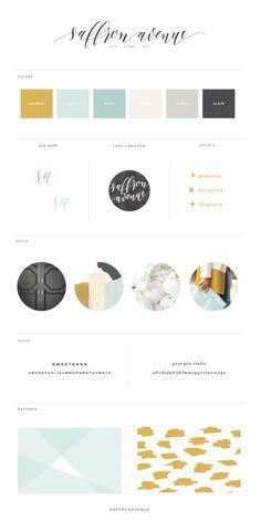 Branding: The New and Improved Design - Saffron Avenue Logo Design, Graphic Design Branding, Identity Design, Brochure Design, Visual Identity, Personal Identity, Design Packaging, Menu Design, Stationery Design
