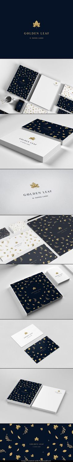 #branding Golden Leaf by Daniel Lasso on behance : http://www.behance.net/gallery/Golden-Leaf/13654323