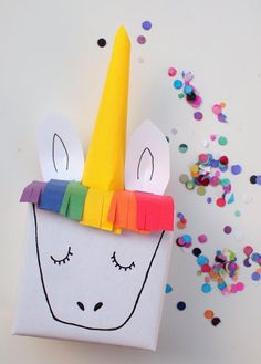 magical unicorn gift box birthday wrapping kids craft