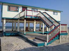 Galveston 3 br Beach Front Vacation Rental Home: Morning Dee Light - Beachfront in Terramar Subdivision