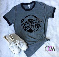 Soccer Mom Shirt, Soccer Mama Shirt, Soccer Mom, Soccer Ringer Tee, Love Soccer, Soccer Shirt by 1OneCraftyMomma on Etsy