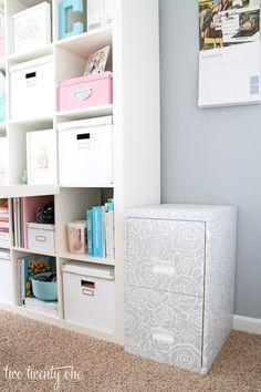Home office cor de rosa