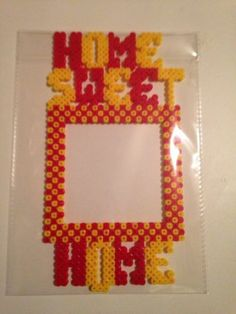 Home Sweet Home Hama perler bead Light Switch Frame by playbunnie09