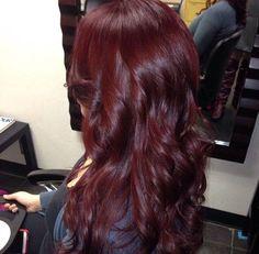 Burgundy hair...