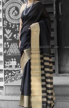 Elegant Woven Handloom Cotton Saree | India1001.com