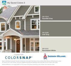 Exterior Color Schemes Exterior Paint Color Combinations Exterior House Color Combinations With Brick Exterior Gris, Exterior Color Schemes, Exterior Paint Colors For House, House Color Schemes, Paint Colors For Home, Modern Exterior, Paint Colours, Siding Colors For Houses, Traditional Exterior
