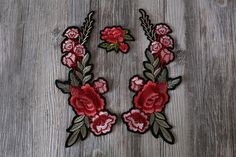 Large Rose iron on patch flower patchEmbroidered patches