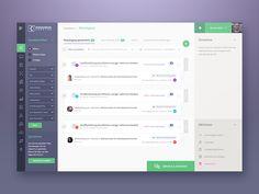 Dashboarddesign Ver2 by Reznik  #Design Popular #Dribbble #shots