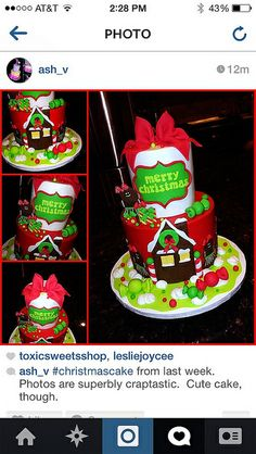 Christmas cake by cakesbyashley, via Flickr