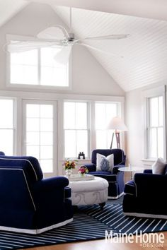 the sail fan!!!  and the waves on the footrest.  love the dark dark navy.