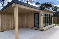 Gallery | Insulated Garden Rooms | Outside In Hot Tub Gazebo, Backyard Gazebo, Summer Houses Uk, Patio Design, Garden Design, Insulated Garden Room, Container House Design, Container Homes, Insulated Panels