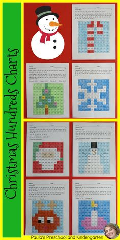 Christmas Hundreds Charts are a fun and engaging way to get your students reading and writing numbers to 100! There are 7 puzzles to solve: Santa, Rudolph, a snowflake, a Christmas tree, a candle, a candy cane and a snowman. My students beg for these! TpT $