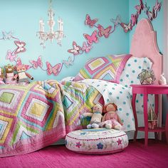 Wall color for Anika's room.  And she likes it too, bonus!    Jasmine Quilt Bedding | Company Kids
