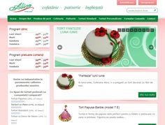 Web design Cofetaria Alice Doritos, Panna Cotta, Alice, Web Design, Ethnic Recipes, Food, Dulce De Leche, Design Web, Essen