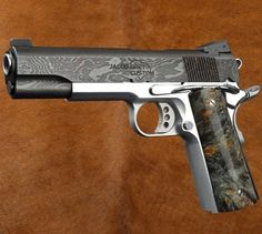 The JGC Heritage has a blued Damascus slide, a stainless chromed frame, and…