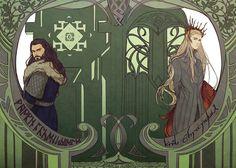 Thorin and Thranduil by aprilis420.deviantart.com on @deviantART