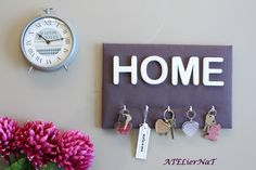Porte-clés prune HOME AtelierNAT Déco murale pratique & astucieuse http://ateliernatblog.canalblog.com