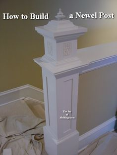 Love this beforeafter of the stairway with the moldings