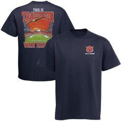 425aafc8aaa Auburn Tigers War Eagle Stadium Sunset T-Shirt - Navy Blue