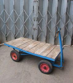 Four Wheel Turntable Trolley Handcart Trailer Bogie 4 Wheel Platform REF 5088 in…