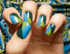 MANICURATOR: Nail art, nail polish, manicures and all things beauty blog: Rescue Beauty Lounge Cool Tones Nail Art Contest entry
