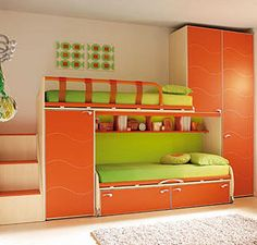 If I could've had a bunk bed with a couch underneath it when I was a teen, my bedroom would've been perfect!