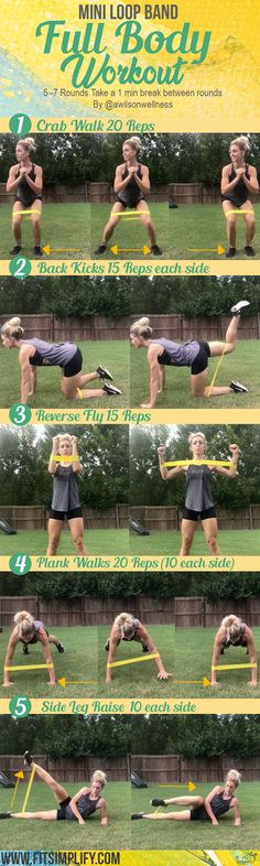 Mini Loop Band Full Body Workout workout MiniLoop WomensWorkout exercise training fitness HealthandFitness is part of Band workout - Full Body Workouts, Fitness Workouts, Pilates Workout, At Home Workouts, Cardio, Fitness Motivation, Fitness Quotes, Hiit, Fitness Home