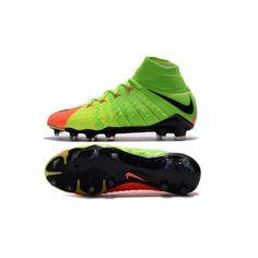 new style 20dea f6088 Botas De Futbol Nike Hypervenom Phantom III 3 DF FG Verde eléctrico Negro  Hype Naranja Online Baratas
