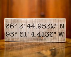 Latitude Longitude Sign GPS Coordinates Sign Personalized Wedding Gift for Her Home Decor Sign House Warming Gift Valentines Day Gift