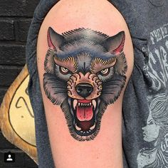 45 Awesome Tribal Lone Wolf Tattoo Designs & Meanings Check more at http://tattoo-journal.com/45-awesome-wolf-tattoo-designs/