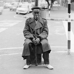 The watchman, Balnagask Court, Hillbrow. June 1972. David Goldblatt