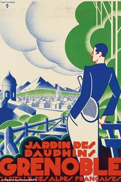 Jardin des Dauphins / Grenoble (1930), by Gaston Gorde, estimated at $1,200 - $1,800