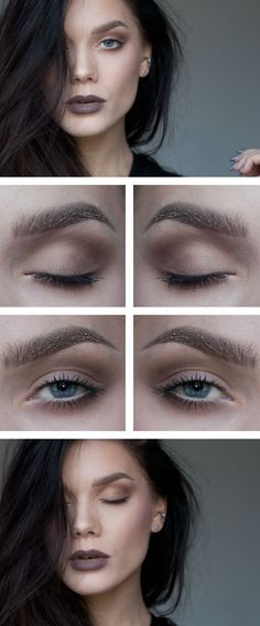 Makeup Grunge -                                                              Todays look – Glitter brows and Taupe lips