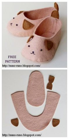 Doll Shoe Patterns, Baby Shoes Pattern, Sewing Patterns Free, Free Sewing, Pattern Sewing, Pattern Fabric, Free Pattern, Dress Patterns, Sewing Slippers