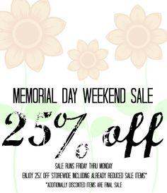 Memorial Day Sale at Apricot Lane Provo!