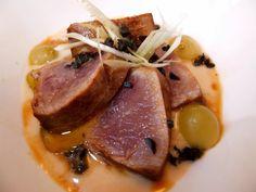 Cocinando con Lola García: Tataki de atún con ajo blanco