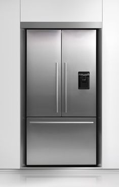 Fisher Paykel Designed To Match Stainless Refrigerator (I've never pinned a fridge before, but this is sexy)