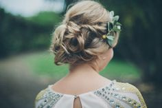 This bride's hair and hairpiece. Photo by the lovely One Love Photo.