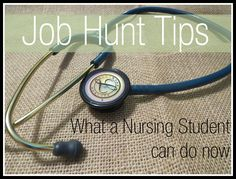 Nursing Job Hunt Tips: What a Nursing Student Can Do - CREATING&CO