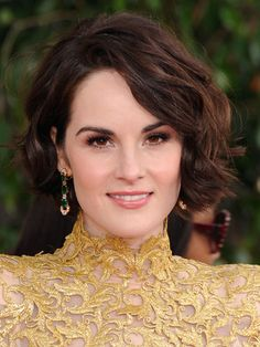 I love this but my hair is not long enough to do this. The pixie takes forever to grow out. Michelle Dockery bob
