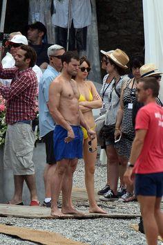 Jamie Dornan filming FSF - 12th July 2016