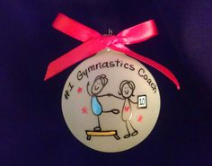 gymnastic, gymnastic coach,gym coach,gym rat,gift for coach,gym coach gift,personalized christmas ornament,gift for gymnastics,my coach by Wurksfromtheheart on Etsy