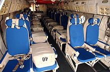 Interior view from the tail of a C-2A Greyhound assigned to Fleet Logistics Support Squadron 40 (VRC-40)