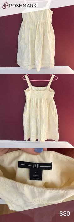 GAP yellow sun dress. GAP - size 4 - pale yellow - double material (pictured) - worn once - side pockets. GAP Dresses